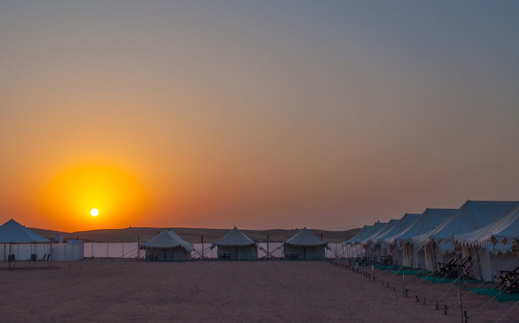 Majestic Sunrise Views From Desert Camp
